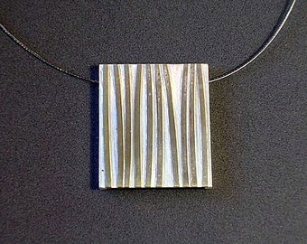 Pendant branches in the wood, modern contemporary jewelry, striped,  striped, geometric jewelry