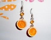Orange Juicy Earrings