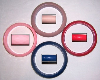 4 vintage bangles colorful