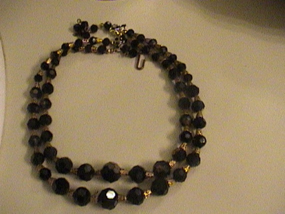 Double black morning beads