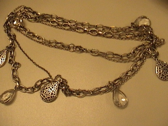 clear holey necklace
