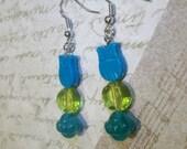 Turqouise Blue Owl Earrings