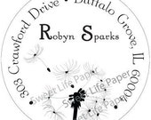Dandelion Address Label, Promotional Label, Product Label, Favor Label, gift stickers, bookplate