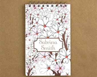 Personalized Journal Notebook - Whispering Flowers