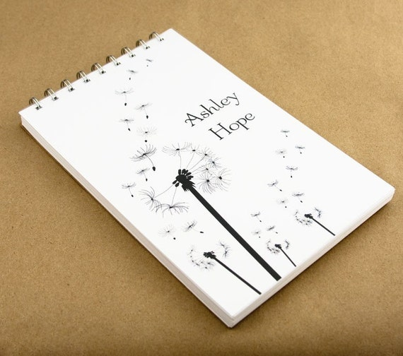 Personalized Journal Notebook - Dandelion Journal