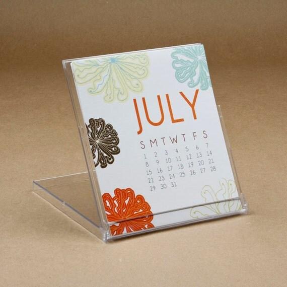 2012 Desktop Calendar with Botanical Designs--------50% OFF