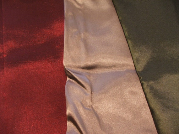 Fashion Fabric, pack of three pieces - burgundy, pale taupe, olive