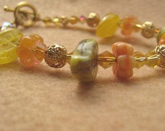 Golden Floral Fantasy Bracelet