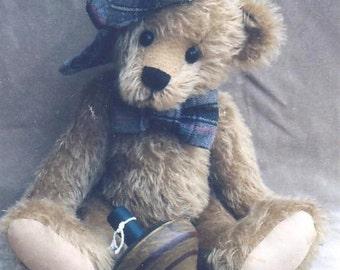 """15"""" Mr. Wilson Teddy Bear Pattern by Linda Johnson of Beardeaux Bears"""