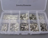 Jewelry Making Kit Antique Silver Findings (Silver Kit)