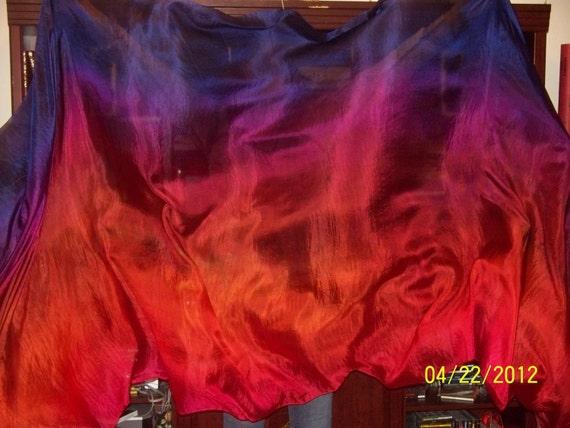 Sahariah's Silk Belly Dance Veil Rectangle 3.5 Yard Tribal Killer Silk Veil