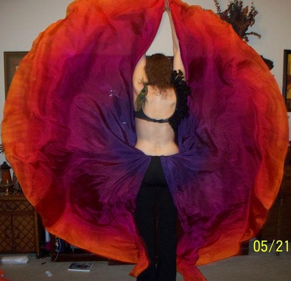 Sahariah's Silk Belly Dance Veils Killer Moths 2 Half Circles