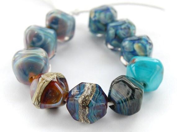 Lampwork Glass Bead Orphans (10) Ten Handmade Beads