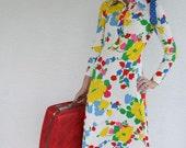 RESERVED for tgroovyfish --- Long Floral Vintage Dress