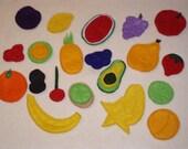 YUMMY Fresh Fruit Felt Board/Flannel Board Set