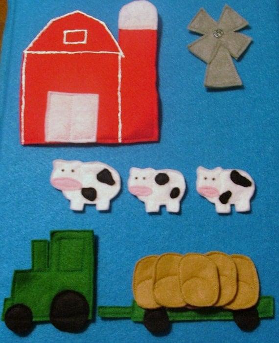 NEW - Farm Felt Set - 20 pieces