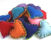 Four Multi-Colored Eco-Felt Pocket Hearts