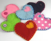 Eco Felt Heart Pouch with Button Closure