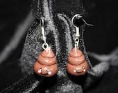 Kawaii poo - earrings
