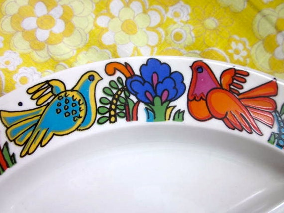 Vintage 1970s Acapulco Serving Dish
