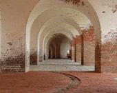 Interior of Fort Pulaski in Savannah 8x10 Original Photographic Print RESERVED FOR ALIBRITZ