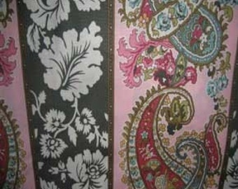 Amy Butler Charm fabric | Pink Paisley | Cotton Quilting fabric
