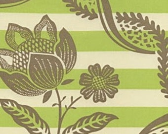 Amy Butler Charm fabric | Lime Stripey Bouquet fabric | Cotton Quilting fabric