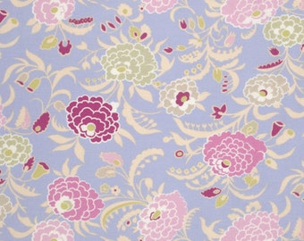 Cotton Quilting Fabric | Amy Butler fabric | Gypsy Caravan Mum Periwinkle