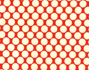 Cotton Quilting Fabric | Amy Butler fabric | Lotus Cherry Full Moon Dot
