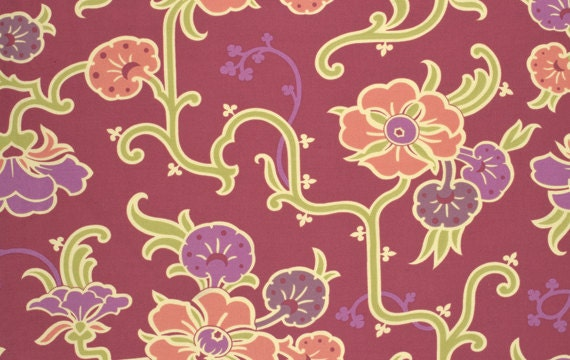 Cotton Quilting Fabric | Amy Butler fabric | Gypsy Caravan Velvet Vine Grape