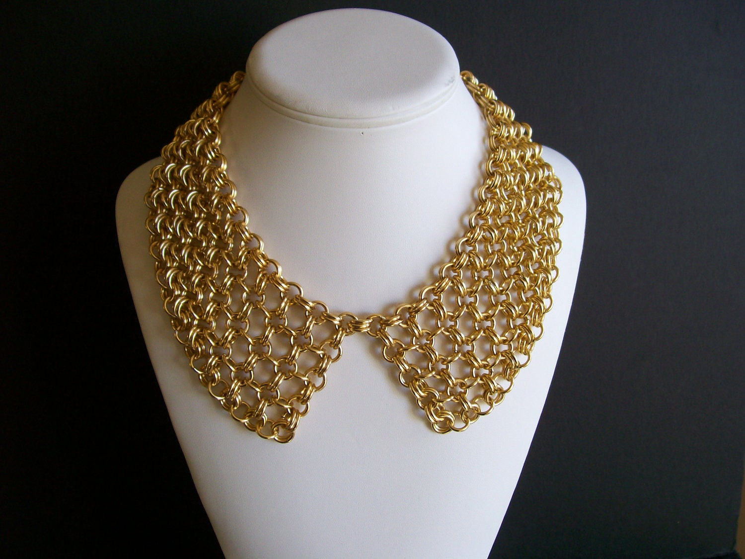 Unique GOLD CHAIN PAN COLLAR NECKLACE on The Hunt SF26