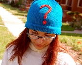 SALE: Eva Cap with Embroidered Question Mark