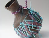 Ribbon Woven Gourd Vessel Ceremonial