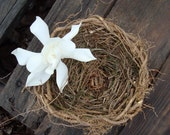 Rosemary for Remembrance Ring Bearer Pillow Earthy Natural Vine Basket Rooty Ready to Ship Woodsy Eco-Conscious Ceremonial Ivy