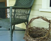 Large Rustic Freeform Wild Grapevine Basket for your Woodsy Eco Friendly Woodland Wedding