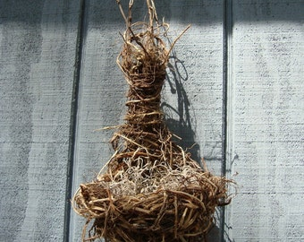 Springtime Bird Nest Decor, Home Decor, Birds Nest Basket with Eggs, Rustic Woodland Scene, Baby Shower Decoration, Wall Hanging, , Wreath