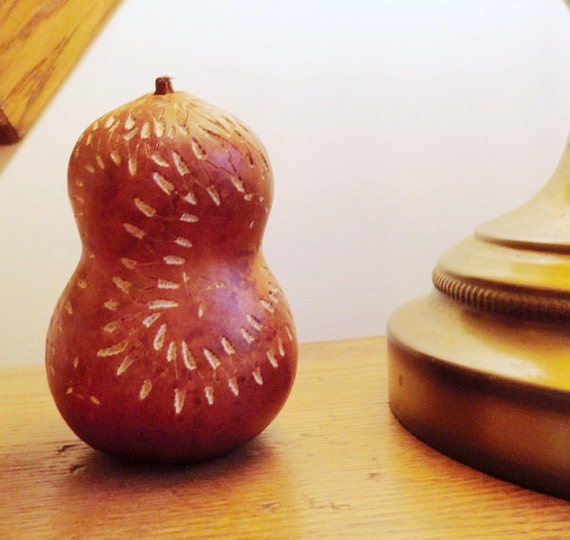 Hand carved gourd chip carving