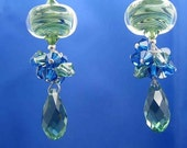 Fusion Sterling Silver Lampwork Dangle Earrings-OOAK