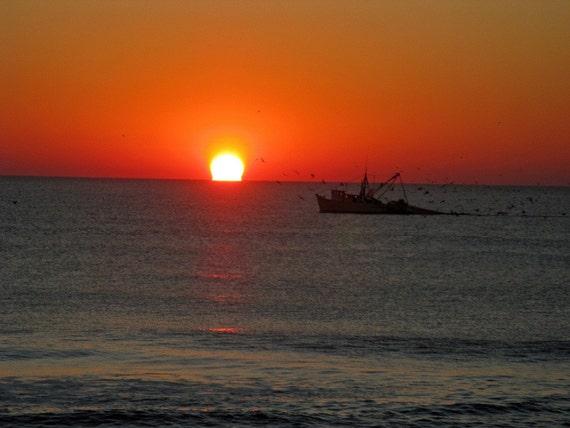 Pleasure Island Commercial Shrimp Boat at Sunrise - Image 3067