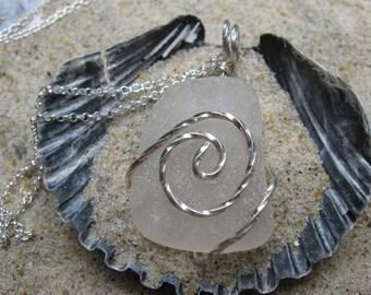 Beach Glass Jewelry - Sea Glass Necklace - Envy