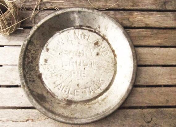 Vintage Silver Pie Tin