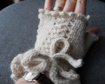 alpaca steampunk fingerless gloves