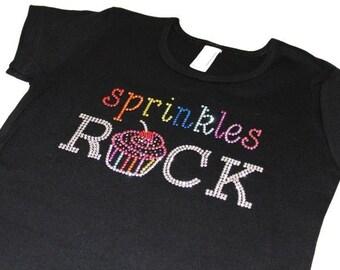 SPRINKLEs RoCK CUPCAKE BLING TSHIRT