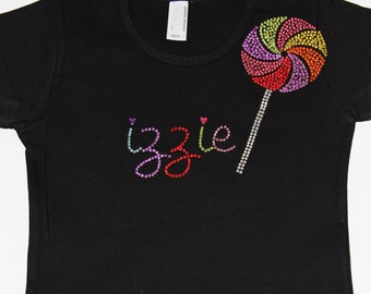 Boutique Personalized Lollipop Tee or Tank