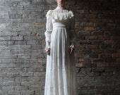 Victorian Vague ... Vintage Gunne Sax Gown