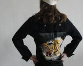 Vintage 1940s Navy Jacket with Silk Tiger Patch
