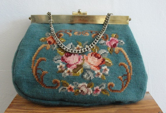 granny chic ... vintage needlepoint bag