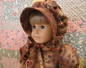 18 inch American Girl Doll Dress Country Hearts Pioneer Set