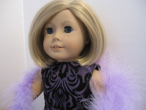 After Five Attire in Purple and Black for the 18 inch American Girl Doll