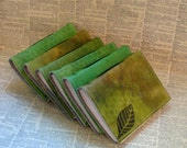 6 green turn a new leaf bulk journal set by bluetoad journals of tremundo